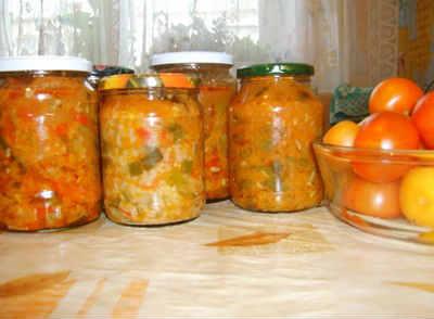 Salat teshhin jazyk iz kabachkov na zimu6