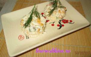 Салат с кукурузой консервированной и крабовыми палочками