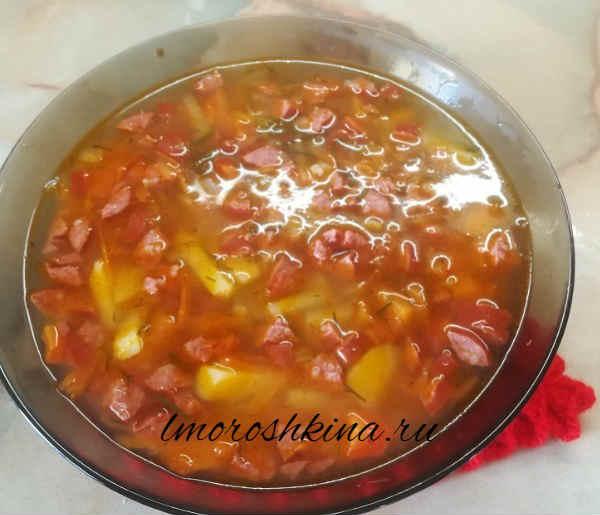Sup s ohotnich'imi kolbaskami11