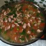 Бельгийский суп с беконом