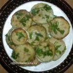 Жареные кабачки с чесноком и майонезом_рецепт
