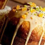Куличи на Пасху-рецепты с фото, украшение_с апельсиновыми цукатами