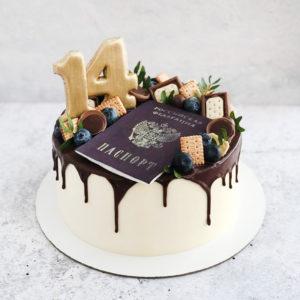 Торт с паспортом на 14 лет: приятный подарок на день рождение