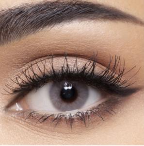 Какие линзы серого цвета подойдут для карих глаз?